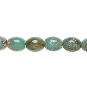 bead, african jade (natural), 10x8mm oval, b grade, mohs hardness 7. sold per 16-inch strand.