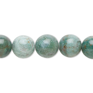 bead, african jade (natural), 12mm round, b grade, mohs hardness 7. sold per 16-inch strand.