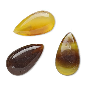 bead, agate (dyed), multicolored, 23x13mm-24x14mm half-drilled puffed teardrop, c grade, mohs hardness 6-1/2 to 7. sold per pkg of 3.