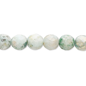 bead, amazonite (dyed), 7-8mm faceted round, c grade, mohs hardness 6 to 6-1/2. sold per 15-inch strand.