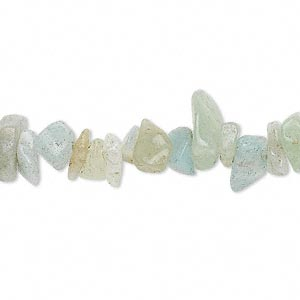 bead, amazonite (natural), small to extra-large chip, mohs hardness of 6 to 6-1/2. sold per 34-inch strand.