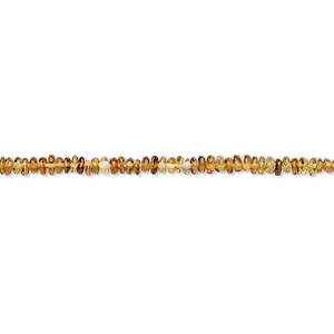 bead, amber-green tourmaline (natural), 2x1mm-3x1mm hand-cut rondelle, b grade, mohs hardness 7 to 7-1/2. sold per 12-inch strand.