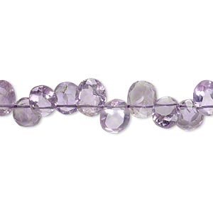 bead, amethyst (natural), 7x5mm-8x6mm hand-cut top-drilled faceted puffed oval, b+ grade, mohs hardness 7. sold per 8-inch strand.