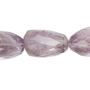 bead, amethyst (natural), large to extra-large hand-cut faceted nugget, mohs hardness 7. sold per 7-inch strand.