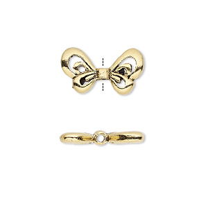 bead, antique gold-plated pewter (tin-based alloy), 18x10mm open wings, 1.5mm hole. sold per pkg of 2.