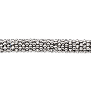 bead, antiqued sterling silver, 6x2mm rondelle with 2mm hole. sold per 1-troy ounce pkg, approximately 80-100 beads.
