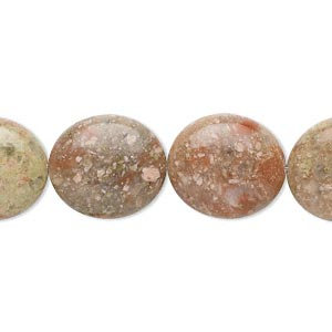 bead, autumn jasper (natural), 16x14mm flat oval, b grade, mohs hardness 6-1/2 to 7. sold per 16-inch strand.
