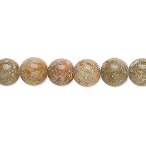 bead, autumn jasper (natural), 8mm round, c grade, mohs hardness 6-1/2 to 7. sold per pkg of (10) 16-inch strands.