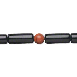 bead, black obsidian and multi-gemstone (natural / imitation), 5mm-15x6mm round and round tube, c grade, mohs hardness 5 to 5-1/2. sold per 15-inch strand.