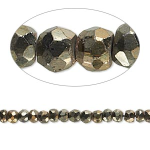 bead, black spinel (coated), gold iris, 4x2mm-5x3mm hand-cut faceted rondelle, c grade, mohs hardness 8. sold per 13-inch strand.