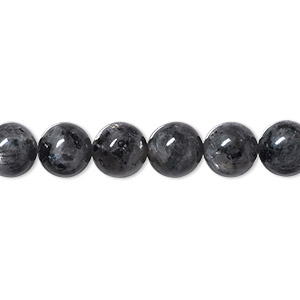 bead, blue labradorite (natural), 8mm round, b- grade, mohs hardness 6 to 6-1/2. sold per 16-inch strand.