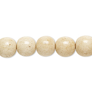 bead, bone (dyed), antiqued brown and white, 10mm round, mohs hardness 2-1/2. sold per 16-inch strand.