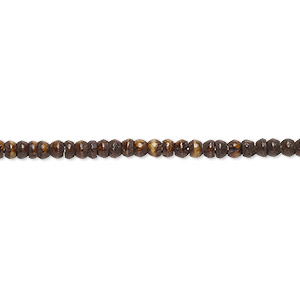 bead, bone (dyed), coffee brown, 2mm round. sold per 16-inch strand.