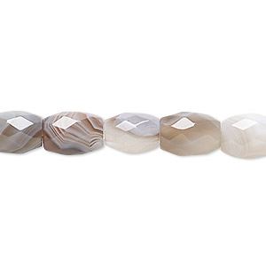 bead, botswana agate (natural), 10x8mm faceted drum, b grade, mohs hardness 6-1/2 to 7. sold per 16-inch strand.