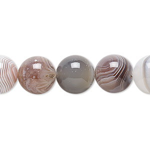 bead, botswana agate (natural), 12mm round, b grade, mohs hardness 6-1/2 to 7. sold per 16-inch strand.