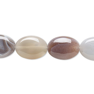 bead, botswana agate (natural), 16x12mm flat oval, b grade, mohs hardness 6-1/2 to 7. sold per 16-inch strand.