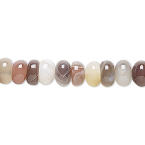 bead, botswana agate (natural), 8x5mm rondelle, b grade, mohs hardness 6-1/2 to 7. sold per 16-inch strand.