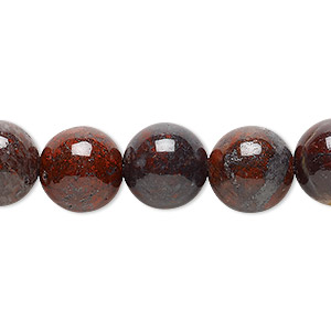 bead, brecciated jasper (natural), 12mm round, b grade, mohs hardness 6-1/2 to 7. sold per 16-inch strand.