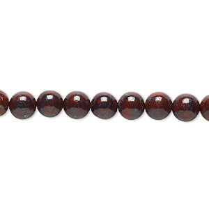 bead, brecciated jasper (natural), 6mm round, b grade, mohs hardness 6-1/2 to 7. sold per 16-inch strand.