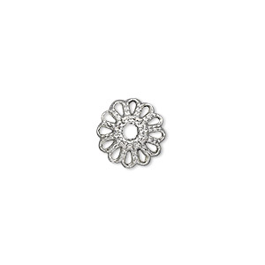 bead cap, antique silver-plated pewter (zinc-based alloy), 12x4mm round, fits 10-16mm bead. sold per pkg of 50.