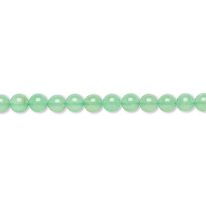 bead, chrysoprase (natural), 4mm round, a- grade, mohs hardness 6-1/2 to 7. sold per 15-inch strand.