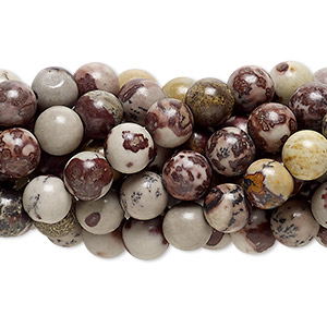 bead, crazy horse™ stone (coated), 6mm round, c grade, mohs hardness 3-1/2 to 4. sold per pkg of (10) 16-inch strands.