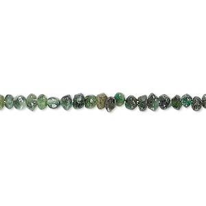 bead, emerald (oiled), 3x2mm-5x3mm hand-cut saucer, d grade, mohs hardness 7-1/2 to 8. sold per 13-inch strand.