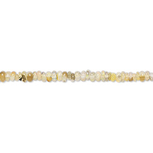 bead, ethiopian opal (natural), 2x1mm-4x2mm hand-cut rondelle, c+ grade, mohs hardness 5 to 6-1/2. sold per 16-inch strand.