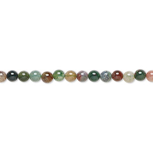 bead, fancy jasper (natural), 3mm round, b grade, mohs hardness 6-1/2 to 7. sold per 16-inch strand.