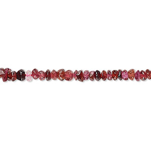 bead, garnet and rhodonite garnet (dyed), 3x1mm-4x3mm hand-cut faceted rondelle, c- grade, mohs hardness 7 to 7-1/2. sold per 12-inch strand.