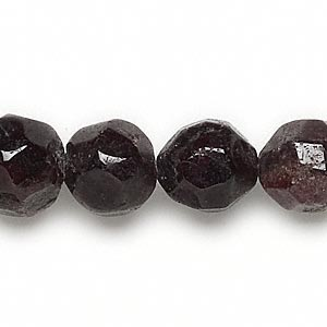 bead, garnet (dyed), 13-14mm faceted round, c- grade, mohs hardness 7 to 7-1/2. sold per 16-inch strand.