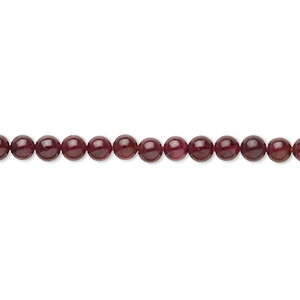 bead, garnet (dyed), 3-3.5mm round, c grade, mohs hardness 7 to 7-1/2. sold per 15-inch strand.