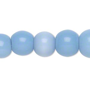 bead, glass, blue violet, 11-12mm round. sold per 15-inch strand.