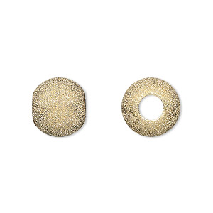 bead, gold-plated brass, 12mm stardust round with 4.7mm hole. sold per pkg of 24.