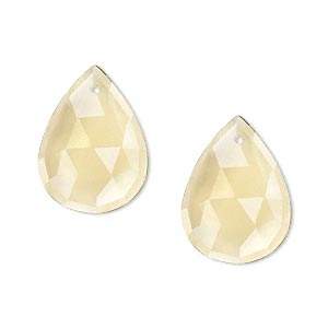bead, golden quartz (heated), 20x15mm faceted teardrop, b grade, mohs hardness 7. sold per pair.