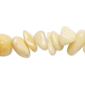 bead, golden quartzite (natural), extra-large chip, mohs hardness 7. sold per 15-inch strand.