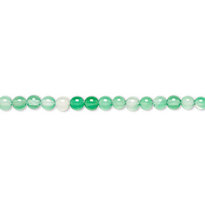 bead, green agate (dyed), 3mm round, b grade, mohs hardness 6-1/2 to 7. sold per 16-inch strand.