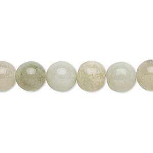 bead, green aventurine (natural), light, 7-9mm hand-cut round, c grade, mohs hardness 7. sold per 12-inch strand.