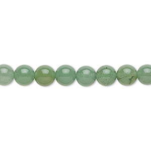 bead, green aventurine (natural), medium to dark, 6mm round, b grade, mohs hardness 7. sold per 16-inch strand.