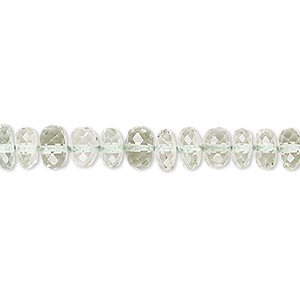 bead, green quartz (heated), 6x3mm-7x6mm hand-cut faceted oval, a- grade, mohs hardness 7. sold per 8-inch strand.
