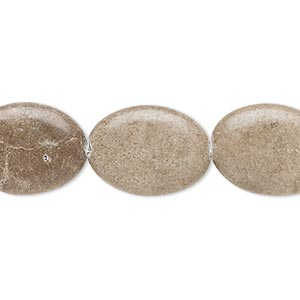 bead, grey and cream marble (natural), 17x12mm-18x14mm flat oval, c+ grade, mohs hardness 3. sold per 15-inch strand.