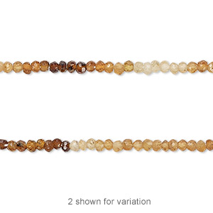 bead, hessonite garnet (natural), shaded, 2x2mm-3x2mm hand-cut faceted rondelle, c grade, mohs hardness 7 to 7-1/2. sold per 13-inch strand.