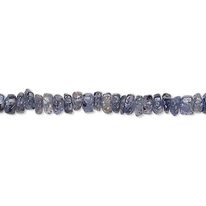 bead, iolite (dyed), 4x1mm-5x3mm hand-cut tumbled faceted rondelle, c- grade, mohs hardness 7 to 7-1/2. sold per 13-inch strand.