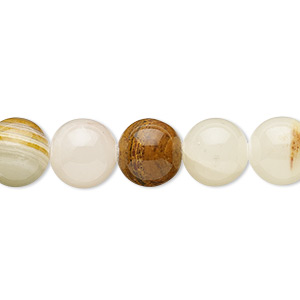 bead, italian onyx (coated), 9-10mm round, b- grade, mohs hardness 3. sold per 15-inch strand.