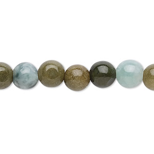 bead, jadeite (natural), 8mm round with 0.5-1.5mm hole, c grade, mohs hardness 6-1/2 to 7. sold per 16-inch strand.