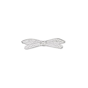 bead, jbb findings, sterling silver, 22x5mm dragonfly wings. sold individually.