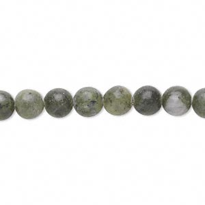 bead, jungle jasper (natural), 6mm round, d grade, mohs hardness 2-1/2 to 6. sold per 15-inch strand.