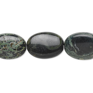bead, kambaba jasper (natural), 18x12mm oval, b grade, mohs hardness 6-1/2 to 7. sold per 16-inch strand.