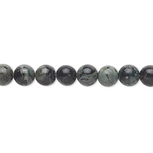 bead, kambaba jasper (natural), 6mm round, b grade, mohs hardness 6-1/2 to 7. sold per 16-inch strand.
