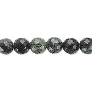 bead, kambaba jasper (natural), 8mm faceted round, b grade, mohs hardness 6-1/2 to 7. sold per 16-inch strand.